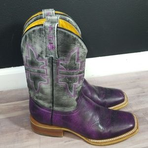 Tin haul purple western boots size 8 like new